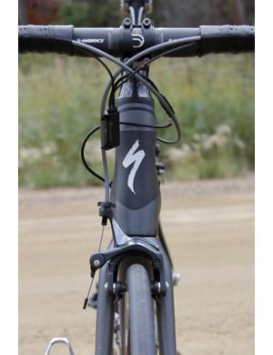 Specialized's Cobra headtube sets the lower bearing higher for more strength and flairs to offer a wider attachment for the downtube