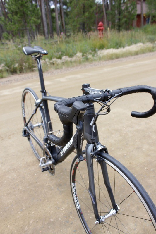 Our bike came with Shimano's Di2 electronic transmission