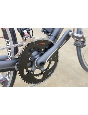 Specialized's S-Works FACT OSBB crank came with a 110mm BCD carbon spider