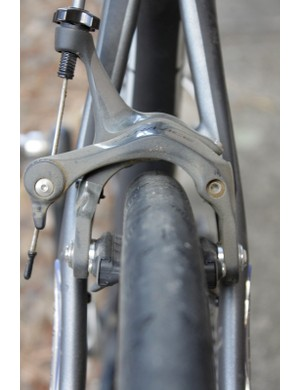 We rode the Crooked Roubaix on 28mm Continental tires and still found plenty of clearance at the seatstays...