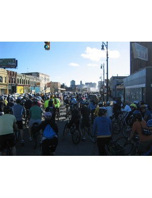 The beginning of last year's Tour De Troit ride