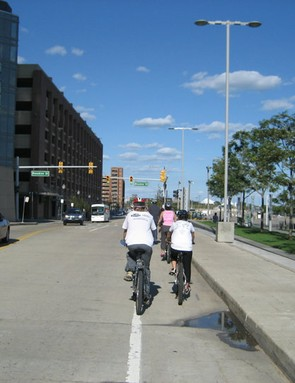 With dedicated bike lanes the Motor City is becoming more friendly to commuters