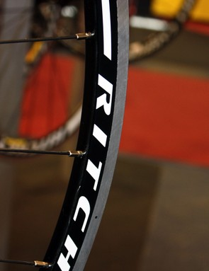 The new Ritchey Pro Apex Zeta aluminium clincher road wheelset features an offset rear rim and crow's foot spoke lacing for better lateral rigidity