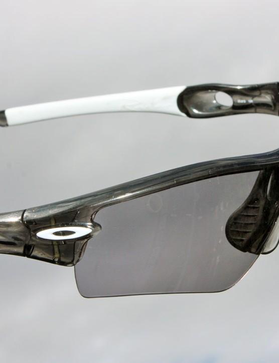 At its darkest, the Oakley Clear-Black Iridium photochromic lens isn't as dark as the standard Black Iridium lens and definitely doesn't block 90 percent of incoming light