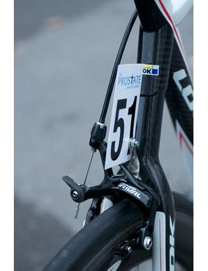 Wishbone seatstay carries a SRAM Rival brake calliper for extra stiffness