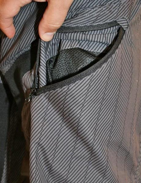 Matrix shorts have zipped vents