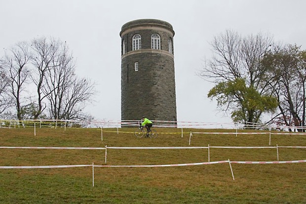 Granogue's famous water tower is still functional and serves the mansion house on the property.