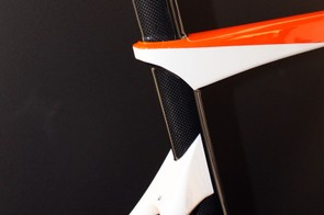 The top tube and seatstays on the Temerario are offset from each other at the seat tube