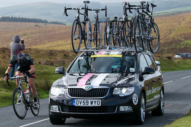 Rapha-Condor-Sharp's Skoda Superb team car