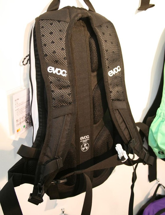 EVOC 10 litre pack with ventilated straps