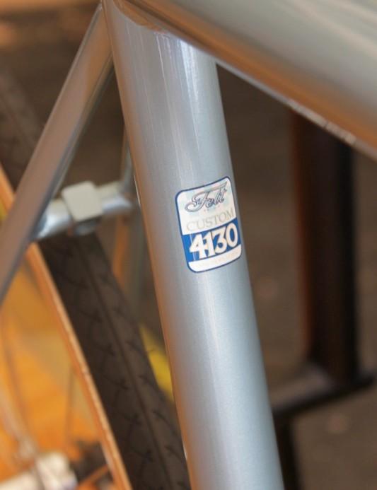 Felt's 4130 steel frames are Tig welded