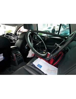 Rapha-Condor-Sharp's Skoda Superb team car