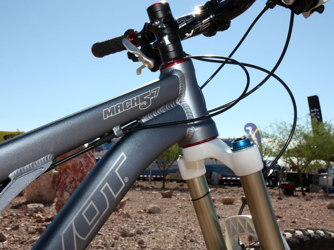 The Mach 5.7 has a newly tapered head tube