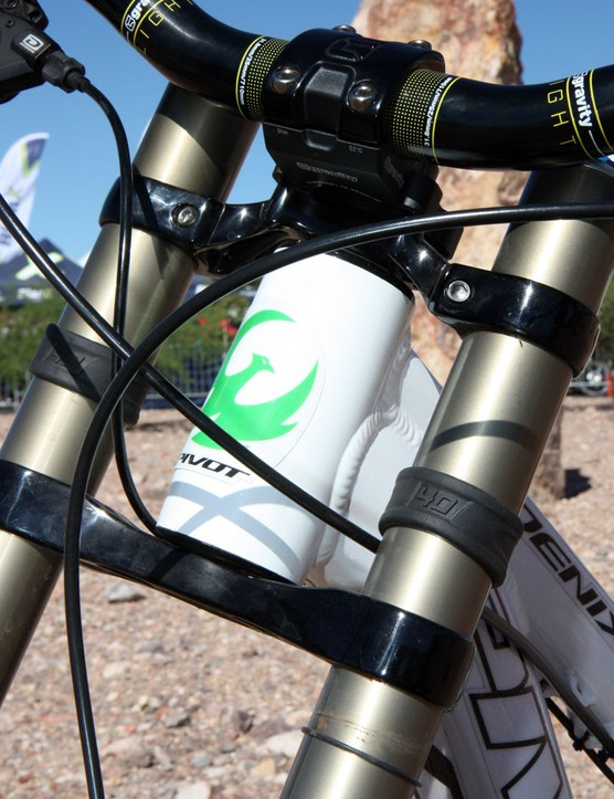The Cane Creek AngleSet headset allows for up to 2.75° of head angle adjustment