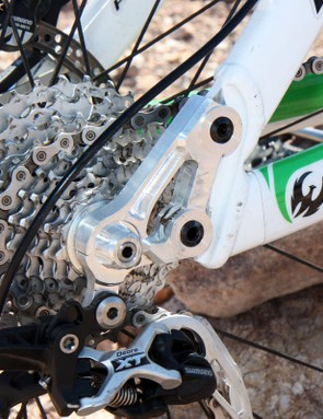 Interchangeable dropouts on the Phoenix DH allow for tunable geometry