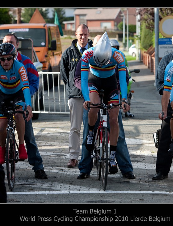 Belgium on the start line of the team time trial