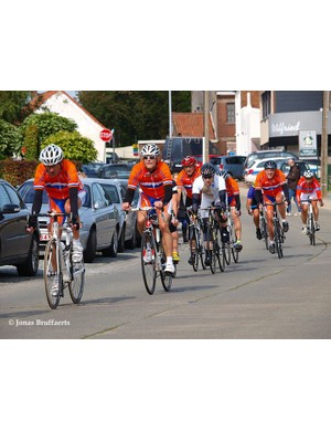The Dutch team in action during the M2 road race