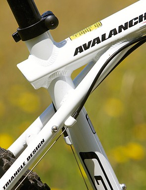 GT's 'triple triangle' frame design sets it apart from the majority