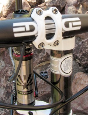 The single shifter wire is fed directly into the modified carbon stem