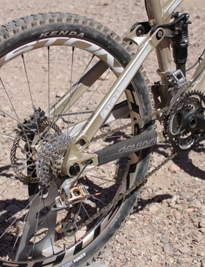 Cables are routed through the chainstay on all of the Split Pivot bikes