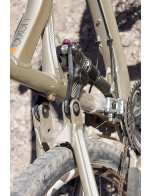 Dixon and Dexter both use the seatstay/shock link chip geometry adjustment feature