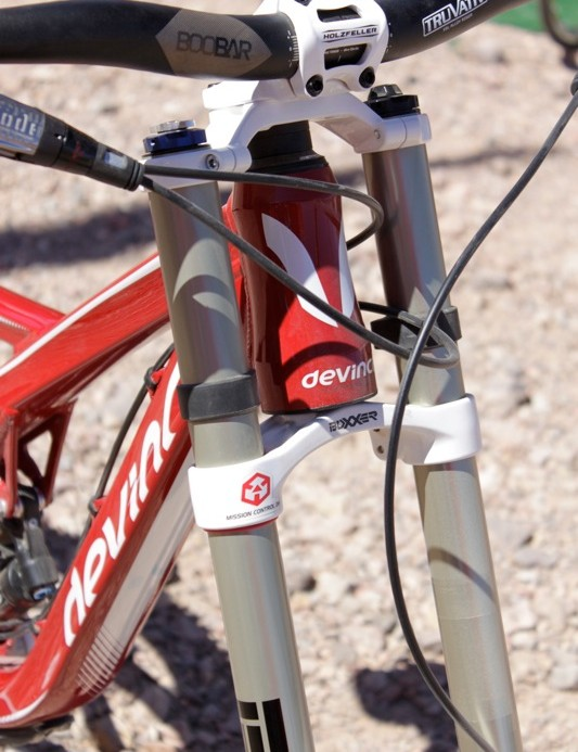 Wilson's tapered head tube accepts CaneCreek's new AngleSet headset