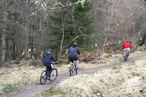 Mountain bike trail opening in Moors Valley Country Park and Forest