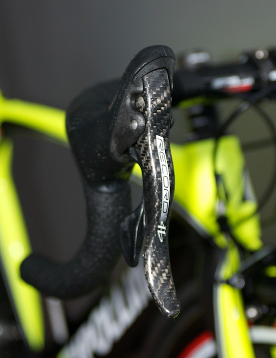 Campagnolo Record takes care of shifting and stopping duties