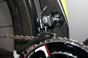 Campag Record front mech and Cipollini's own hanger