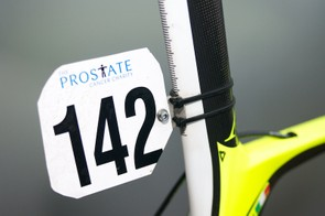 Neat custom mounting point for the race number