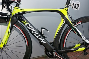 : The frame and fork are covered in aero flourishes