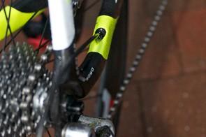 Internal rear cable routing enhances the frame's aero credentials