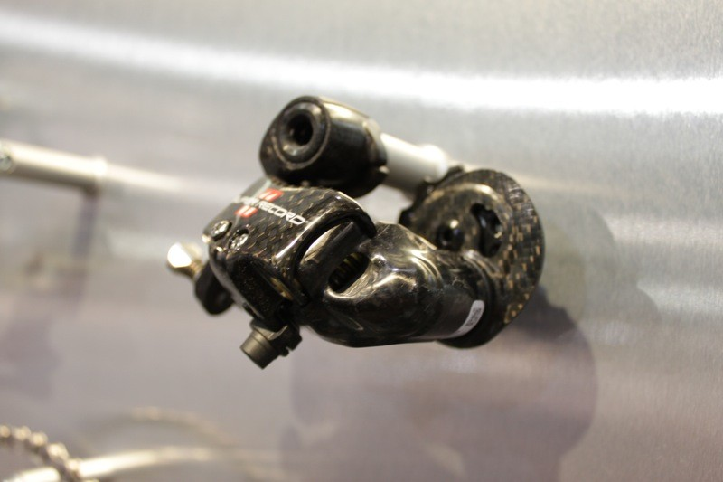 More carbon on the Super Record rear derailleur for 2011
