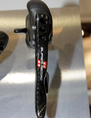 The Super Record 11 shifters have much more snap that previous versions, we suspect stiffer springs