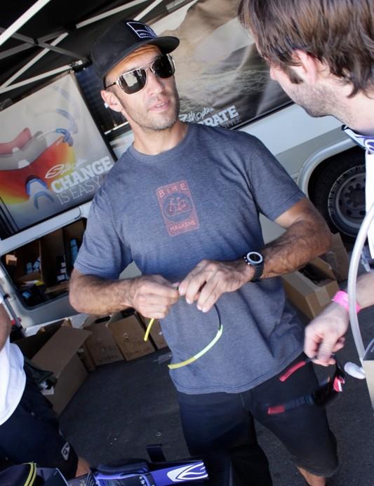 Greg 'Chopper' Randolph talks shades at Interbike's dirt demo