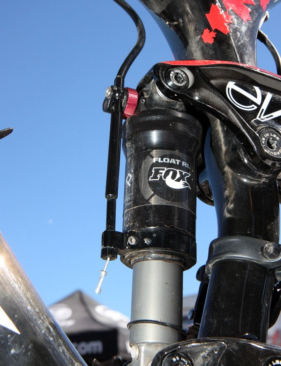 The custom tuned rear shock is designed to be more efficient than those found on trail or all-mountain machines
