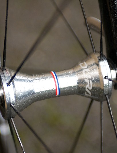 Front Dura-Ace hub continues the personalised theme