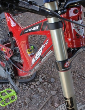 The M9 features a new down tube