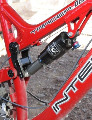 The Tracer 29 provides 5.5in of travel via a Fox RP23 shock