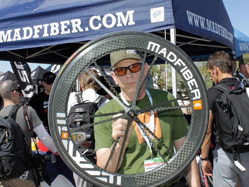 Ric Hjertberg and his Madfiber road wheel