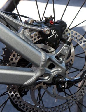 Post mount rear disc brake tabs on the 2011 5.Spot feature replaceable threads