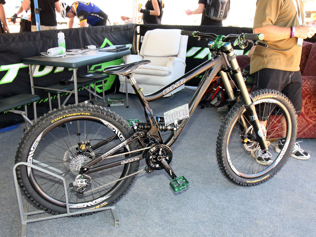 Turner's DHR downhill rig features 210mm (8.3in) of rear wheel travel and low, stable geometry aimed at World Cup-style racing