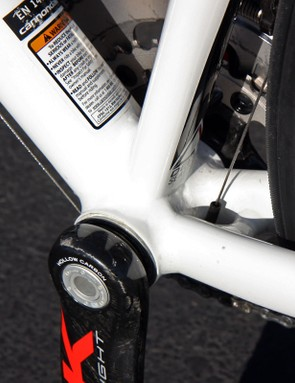 Naturally, Cannondale fit all CAAD10 frames with a BB30-compatible bottom bracket
