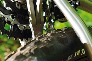 There's plenty of tyre clearance  for as much high profile or wide  rubber as you could want