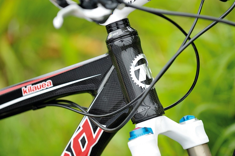 The front end is stout and stiff — perfect for hard riding
