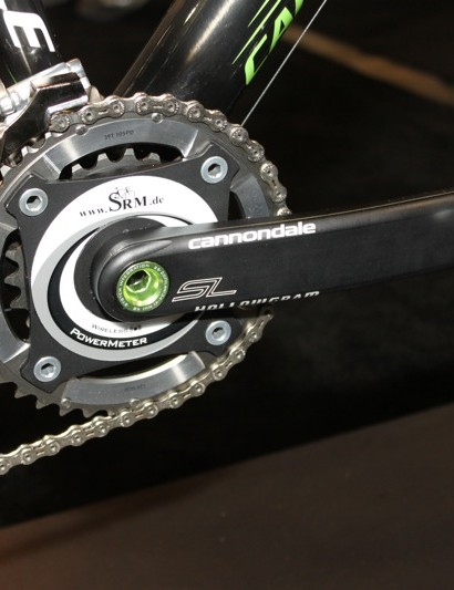 SRM's Cannondale Hollowgram SI model bolted on