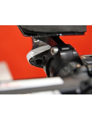 Cable ports on the HED Corsair E are big enough to accommodate Shimano Dura-Ace Di2 connectors
