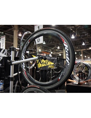 Carbon fibre construction helps Rolf Prima keep their 58mm-deep 58CX down to a claimed 1,440g per pair