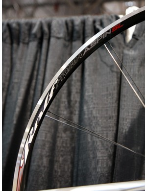 Rolf Prima's Aspin SL uses paired-spoke lacing, weighs just 1,495g for the set and costs a reasonable US$699