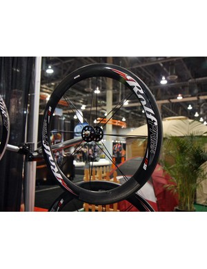 Rolf Prima lace a specially built White Industries hubset into their 58mm-deep rims for the track-specific FX58